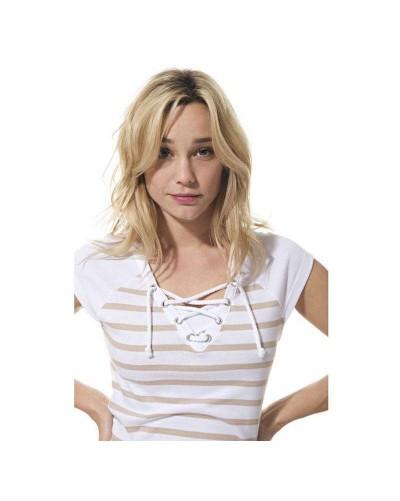 T-shirt marin femme hublot