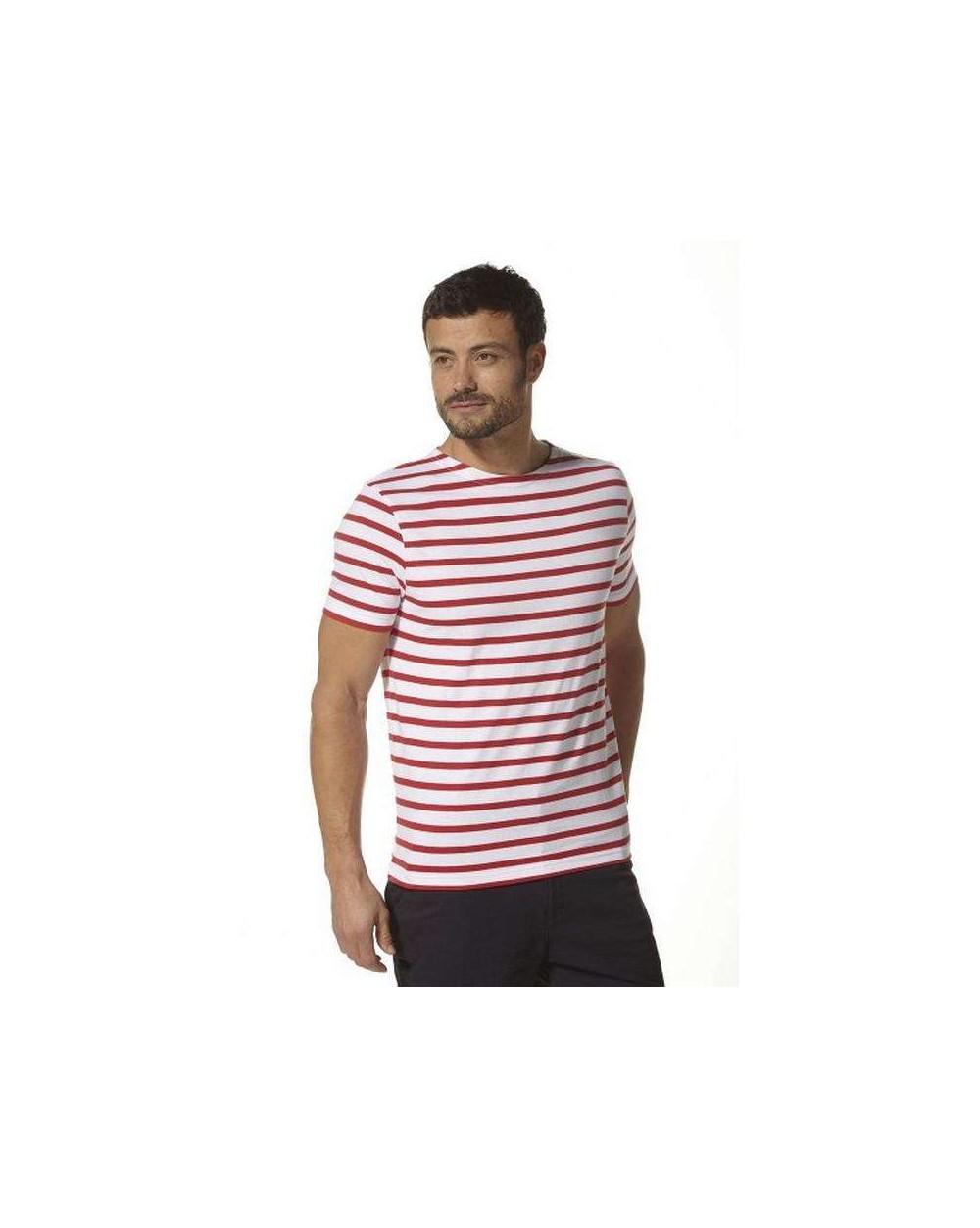 Marinière homme rouge manches courtes