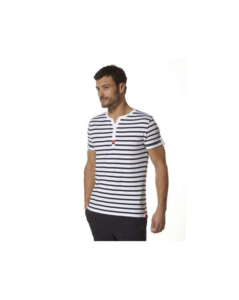 T-shirt col tunisien homme PEPITO