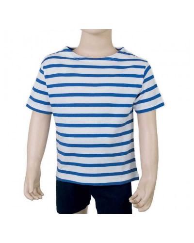 Marinière enfant manches courtes bleu