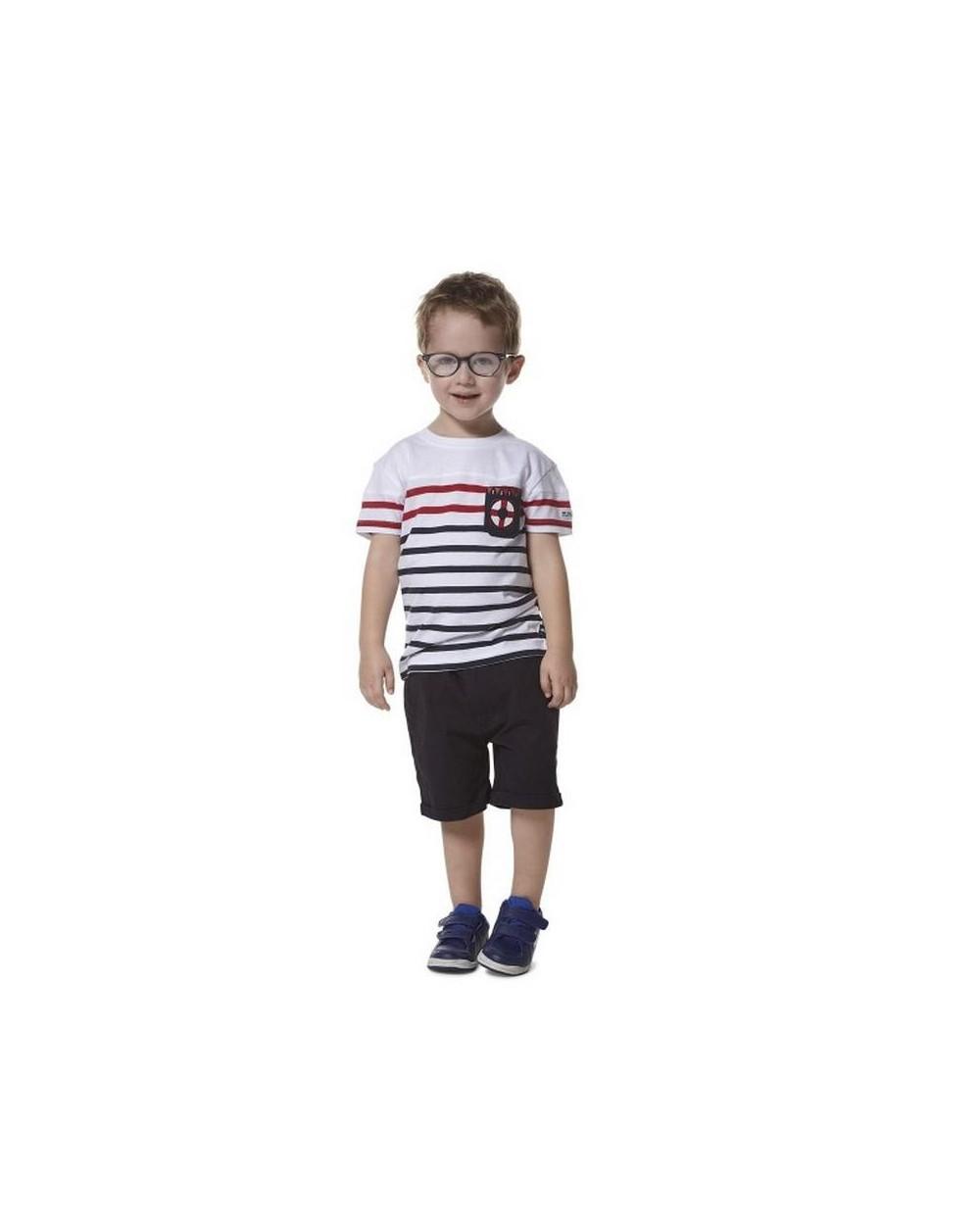 T-shirt garçon style marin