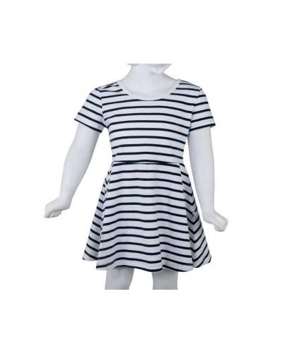 Robe marinière fille évasée Hublot