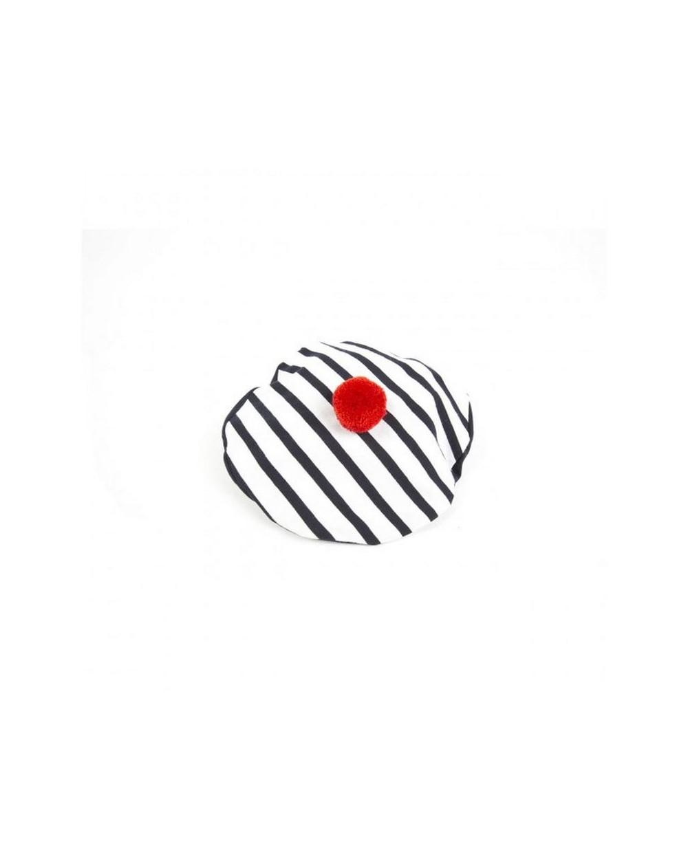 Béret marin pompon rouge COCO