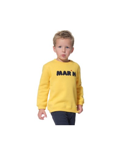 Sweat enfant jaune Hublot MUSHU