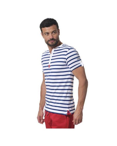 T-shirt marinière homme col tunisien PEPITO Hublot