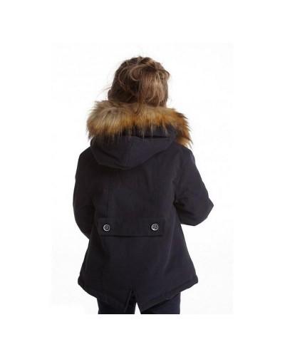 Manteau parka fille noir Hublot