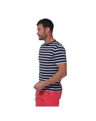 T-shirt rayé homme marine et blanc