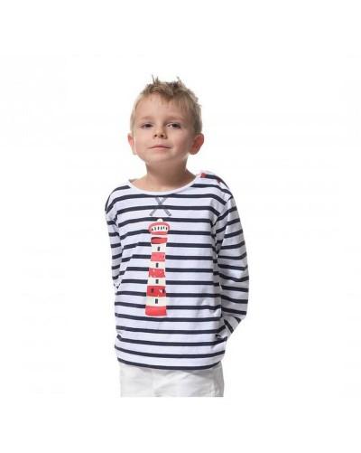 T-shirt marinière garçon manches longues BADEN