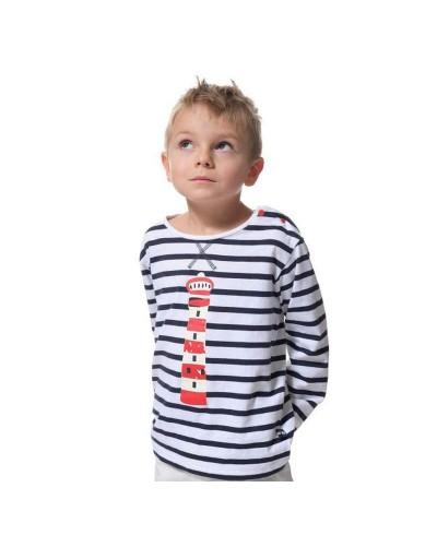 T-shirt marinière manches longues garçon BADEN