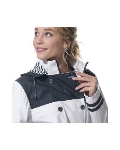 Trench coat avec capuche amovible