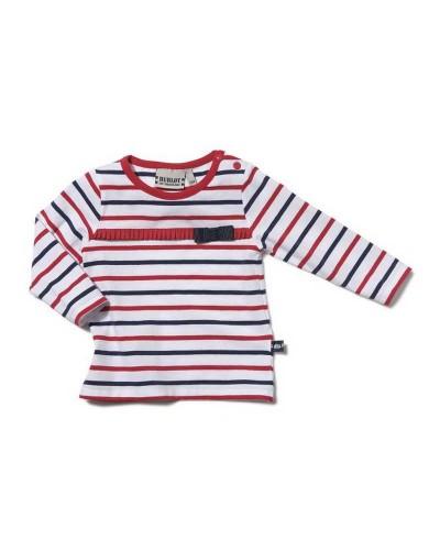 T-shirt fille bleu blanc rouge ALARIS