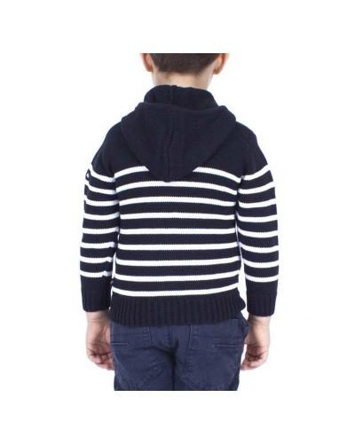 veste-zippée-enfant-à-capuche-barthy-marine-blanc